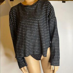 Madewell stripe wide long sleeve shirt